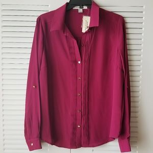 NWT F21 Burgundy Blouse